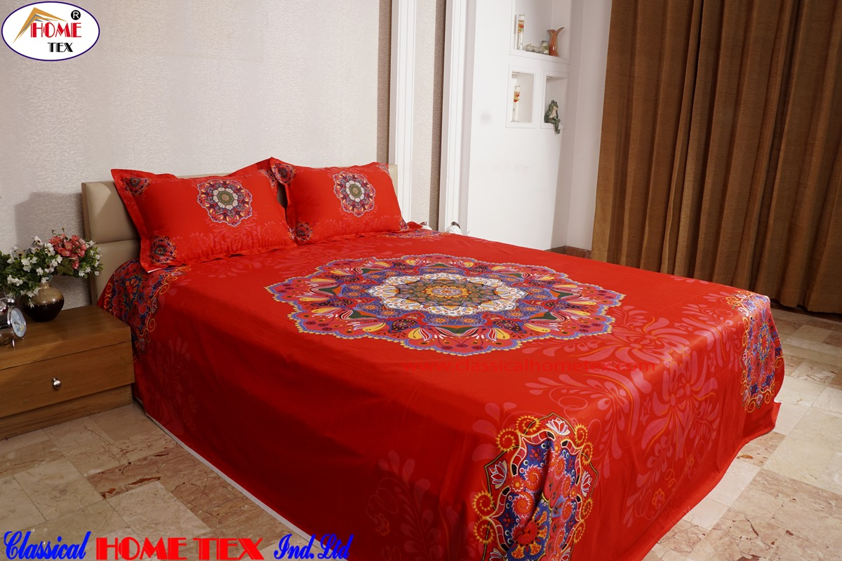 ... Reactive Twill Panel Double Bed Sheet  1684  411 ...