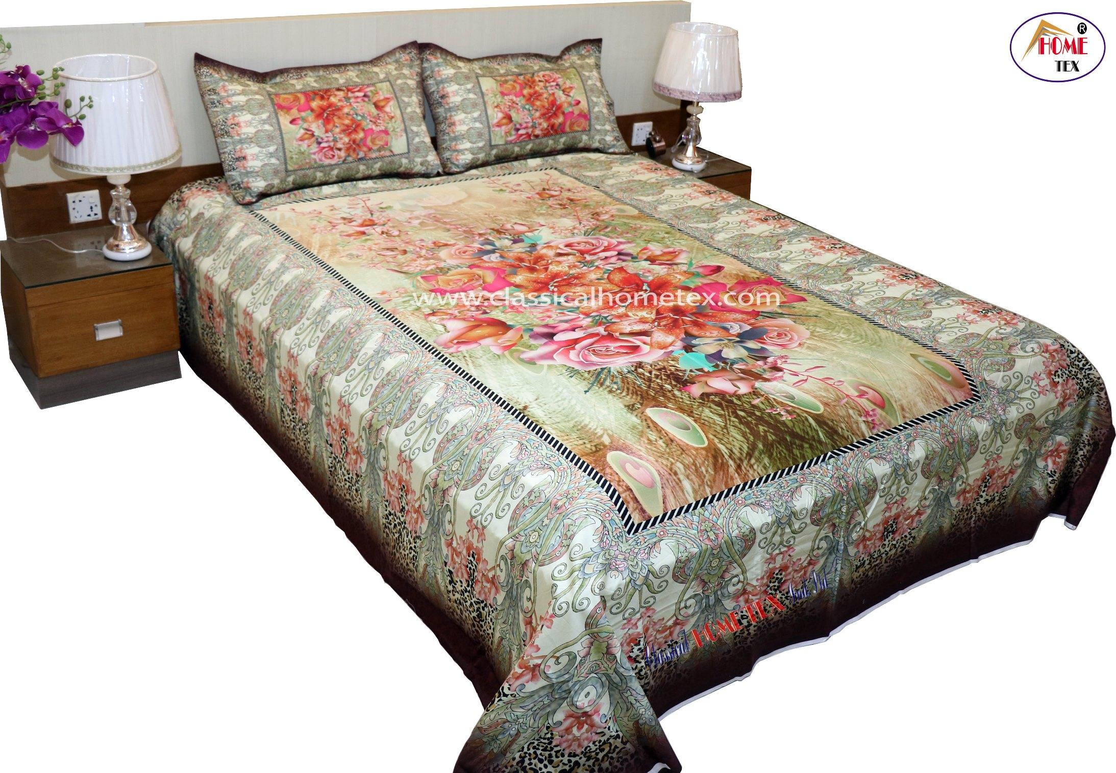 Digital Panel Bed Sheet  3047  116