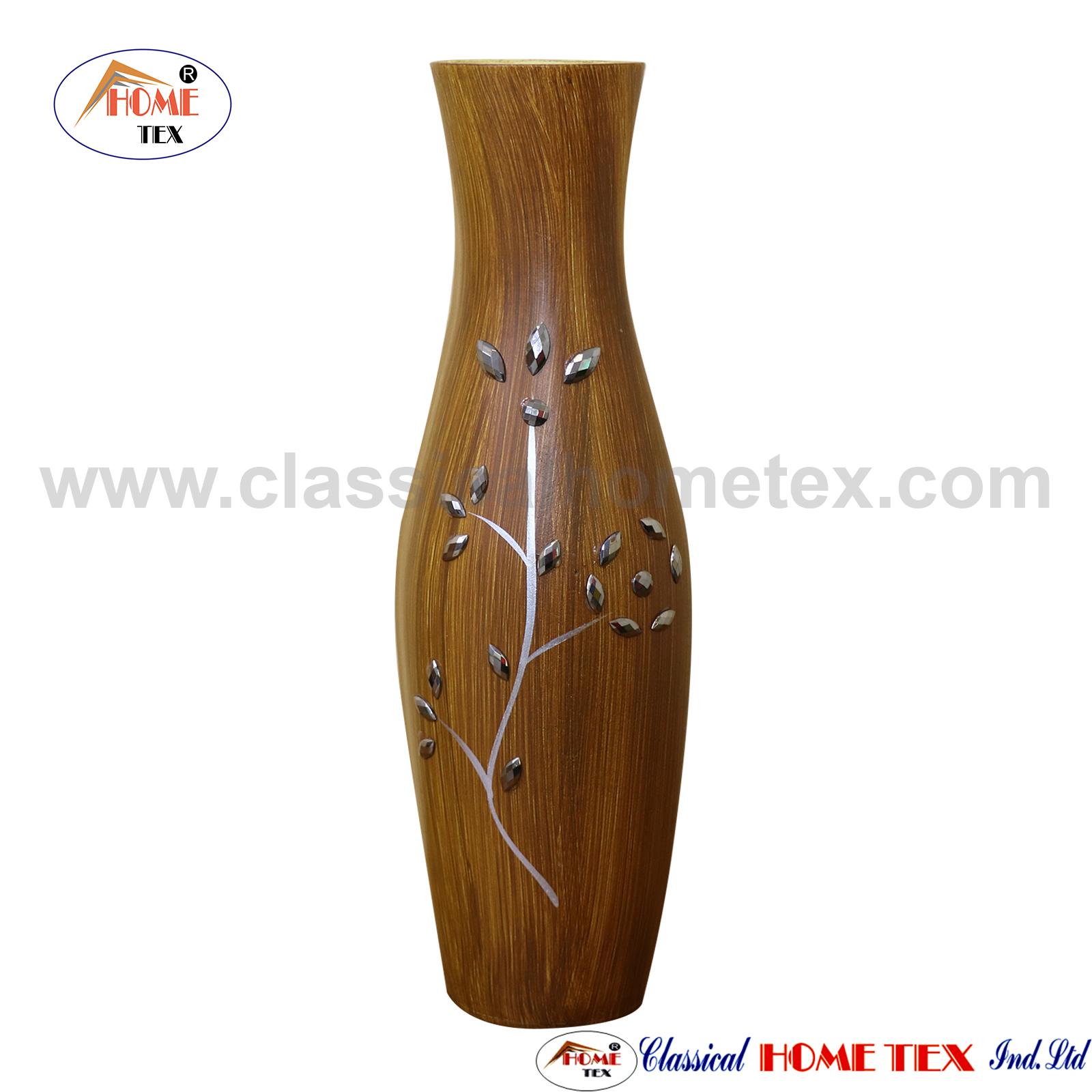 Wooden Flower Vase - Brown Color 2974-101  sc 1 st  Classical Hometex & Buy Flower Vase in bd from HomeTex
